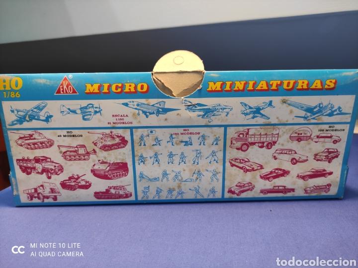 Coches a escala: CAJA MILITAR EKO MICRO MINIATURAS H0, 1/86 CON TRES MODELOS, NUEVA DE LOS AÑOS 70 , REF 4710 (MOD.1) - Foto 6 - 243033415