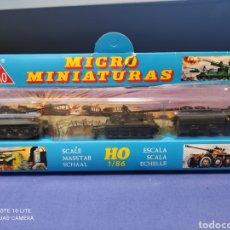 Coches a escala: CAJA MILITAR EKO MICRO MINIATURAS H0, 1/86 CON TRES MODELOS, NUEVA DE LOS AÑOS 70 , REF 4710 (MOD.1). Lote 243033415