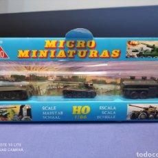Coches a escala: CAJA MILITAR EKO MICRO MINIATURAS H0, 1/86 CON TRES MODELOS, NUEVA DE LOS AÑOS 70 , REF 4710 (MOD.2). Lote 243034050