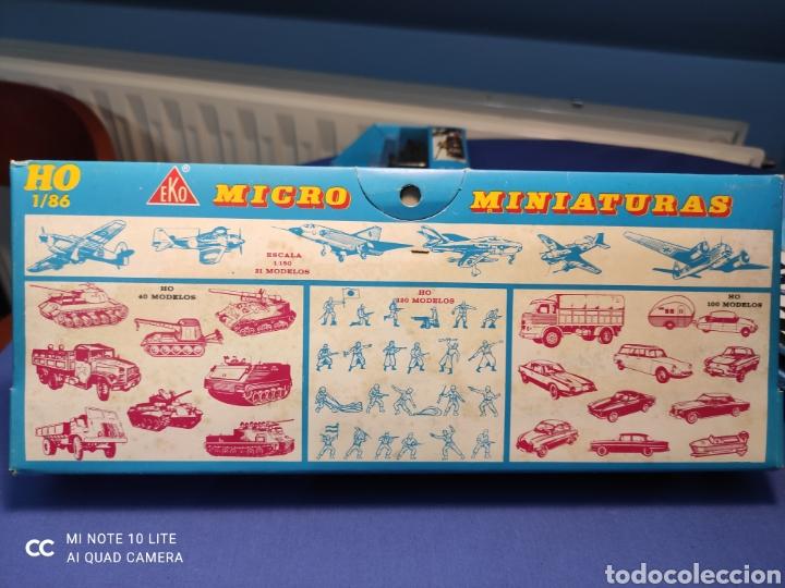 Coches a escala: CAJA MILITAR EKO MICRO MINIATURAS H0, 1/86 CON TRES MODELOS, NUEVA DE LOS AÑOS 70 , REF 4706 - Foto 5 - 243035075