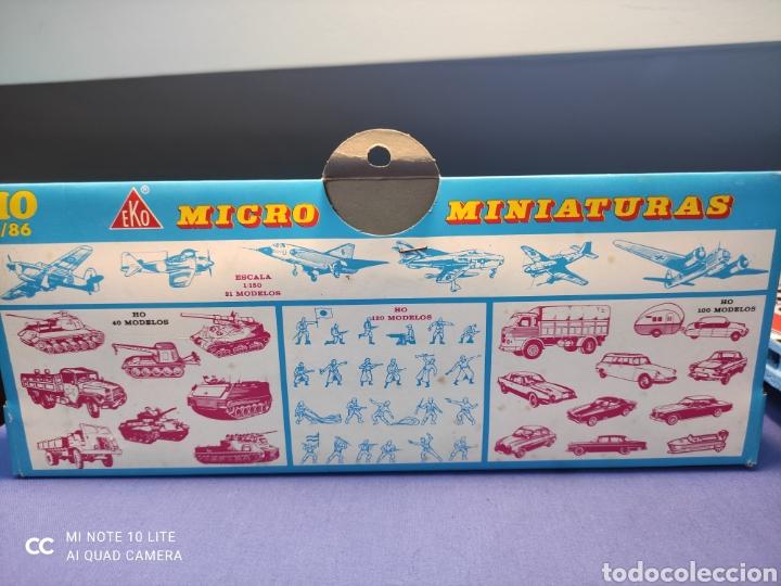 Coches a escala: CAJA MILITAR EKO MICRO MINIATURAS H0, 1/86 CON TRES MODELOS, NUEVA DE LOS AÑOS 70 , REF 4709 - Foto 5 - 243035400