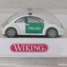 Coches a escala: 1/87 VIKING REFERENCIA Nº 1041027 POLIZEI VW NEW BEETLE (HERPA,PRALINE,ROCO,BREKINA). Lote 218716952
