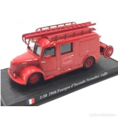 Coches a escala: LAFFLY 1946 FOURGON INCENDIE NORMALISE 1:50 DEL PRADO CAMION BOMBEROS 092. Lote 243969875