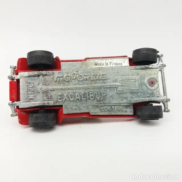 Coches a escala: Excalibur rojo con capota referencia 267 escala 1:56 de Majorette, versión años 1980 a 1982 - Foto 4 - 244025725