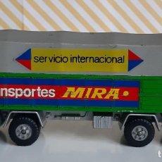 Coches a escala: CAMION PEGASO TRANSPORTES MIRA SERVICIO INTERNACIONAL - 1ª SERIE. Lote 245304125