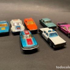 Coches a escala: LOTE DE 7 COCHES DE JUGUETE MARCA (MATCHBOX) - LESNEY PRODUCTS (MADE IN ENGLAND). Lote 246232485