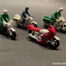 Coches a escala: LOTE DE 4 MOTOS DE JUGUETE (MARCA MATCHBOX) - MADE IN ENGLAND. Lote 246241390