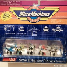Carros em escala: MICROMACHINES #23 WW II FIGHTER PLANES COLLECTION EN BLISTER ORIGINAL. AÑOS 80-90.. Lote 248834735