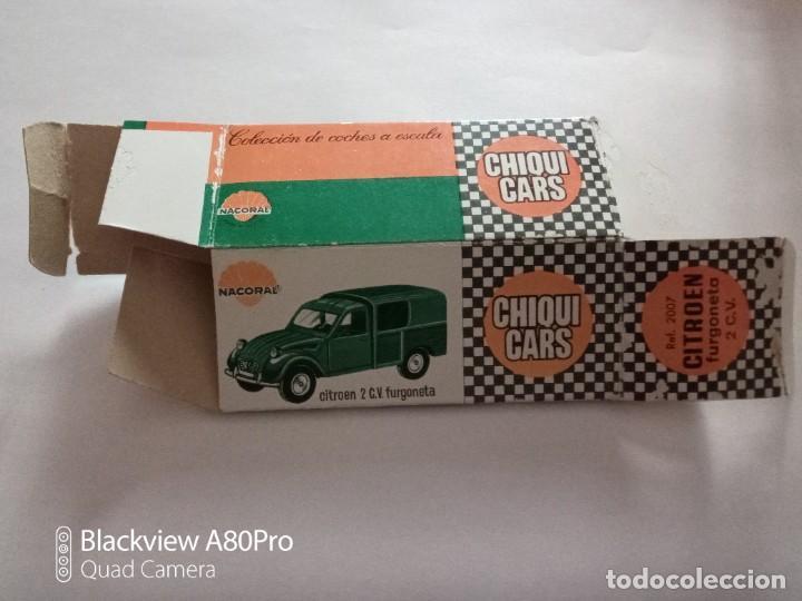 Coches a escala: Nacoral Chiqui Cars Caja vacía Citroen 2 C.V. furgoneta - Foto 2 - 253914065
