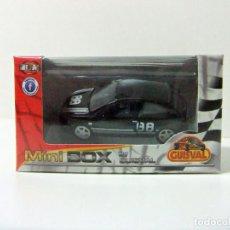 Coches a escala: SEAT IBIZA - GUISVAL MINI BOX ESCALA 1:58 1:64 APROX - COCHE NEGRO BLACK CAR #88 MINIBOX JUGUETE. Lote 253989340