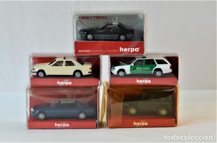 Coches a escala: Herpa Escala 1:87 H0 Lote de 5 coches Mercedes Benz, E320T,300E,600SEL,G,500SL - Foto 2 - 254025965