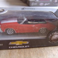 Coches a escala: CHEVROLET CHEVELLE SS 454. -COCHES LEGENDARIOS-. WELLY SUPER9. SCALE MODELS 1/60. Lote 254046775