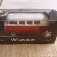 Coches a escala: VOLKSWAGEN T1 BUS. -COCHES LEGENDARIOS-. WELLY SUPER9. SCALE MODELS 1/60. Lote 254051425