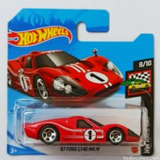 Coches a escala: HOT WHEELS '67 FORD GT 40 MK.IV (3). HOTWHEELS 1/64. HW RACE DAY SERIES 2021.. Lote 254483995