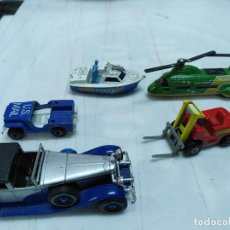 Coches a escala: LOTE 3 COCHES Y 3 VEHICULOS MATCHBOX LESNEY MADE IN ENGLAND AÑOS 70. Lote 254489375