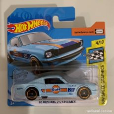 Coches a escala: '65 MUSTANG 2+2 FASTBACK - GULF - HOT WHEELS 1:64. Lote 257484645