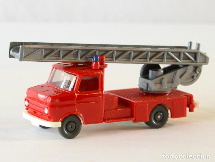 Coches a escala: Wiking Escala H0 1:87 Opel Blitz Bomberos Escalera Giratoria - Foto 2 - 261122995