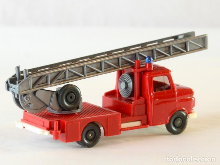 Coches a escala: Wiking Escala H0 1:87 Opel Blitz Bomberos Escalera Giratoria - Foto 4 - 261122995