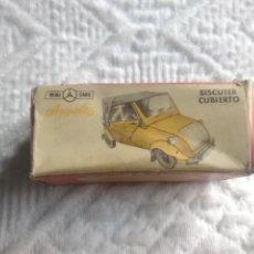 Coches a escala: MINI CARS ANGUPLAS CAJA VACIA DE BISCUTER CUBIERTO. Lote 266845764