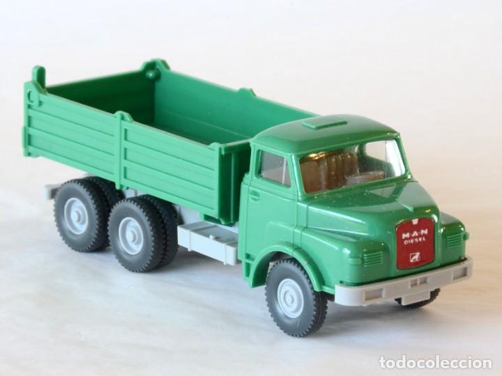 Coches a escala: Wiking Escala H0 1:87 Camión Volquete MAN - Foto 4 - 268719054