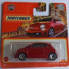 Voitures à l'échelle: MATCHBOX 2019 FIAT 500 TURBO (2). Lote 269690108