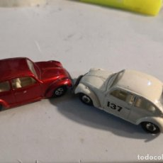 Coches a escala: 2 COCHES VOLKSWAGEN 1500 SALOON MATCHBOX LESNEY SUPERFAST NUMERO 15. AÑO 1968. Lote 274679473