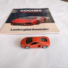 Coches a escala: WELLY 1/60 52321 LAMBORGHINI AVENTADOR METAL CON FASCÍCULO. Lote 275206388