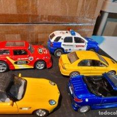 Coches a escala: 5 COCHES: PEUGEOT 206 CC + 1: 32 SPORTAGE + SUPER RACER TURBO ENGINE + BMV Z8 + MITSUBISHI. Lote 276224243