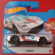 Coches a escala: 17 FORD GT HOT WHEELS 7/10 THEN AND NOW 164/250 2021.. Lote 277044278