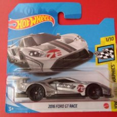 Coches a escala: 2016 FORD GT RACE HOT WHEELS 1/10 HW SPEED GRAPHICS 67/250 2021.. Lote 277044808