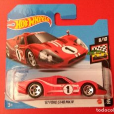 Coches a escala: 67 FORD GT40 MK.IV HOT WHEELS 8/10 HW RACE DAY 106/250 2021.. Lote 277045148