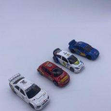 Coches a escala: LOTE DE COCHES MAJORETTE ESCALA 1:57 PEUGEOT 206 SUBARU IMPREZA WRC FORD FOCUS. Lote 277499593