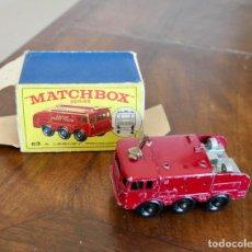 Coches a escala: MATCHBOX - FOAMITE - CRASH TENDER FIRE ENGINE- ESCALA: 1/66-1948-CAJA ORIGINAL. Lote 278210298