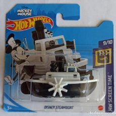 Auto in scala: HOT WHEELS DISNEY STEAMBOAT. MICKEY MOUSE. HW SCREEN TIME 9/10 (31). Lote 278758263