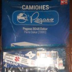 Coches a escala: CAMIONES PEGASO SALVAT.Nº8 PEGASO 3046 DAKAR 1990.ESC.1/43.CON FASCÍCULO.. Lote 285298338