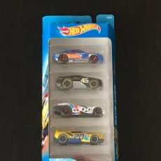 Coches a escala: HOT WHEELS 2016 - RACE ACES PACK 5 COCHES - HOLLOWBACK HORSEPLAY PROTOTYPE H-24 FAST FISH CIRCLE. Lote 295498918