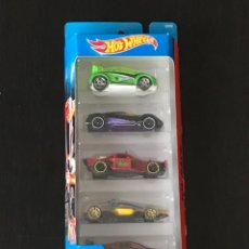 Coches a escala: HOT WHEELS 2015 - SPIN STORM PACK 5 COCHES - SUPER GNAT MITSUBISHI DOUBLE SHOTZ ROLL CAGE FORMULA. Lote 295506193