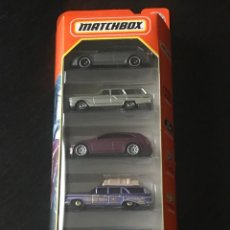 Coches a escala: MATCHBOX 2021 - MBX WAGONS PACK 5 COCHES - AUDI RS6 AVANT FORD FAIRLANE CADILLAC OLDSMOBILE CHEVY. Lote 295510893