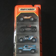 Coches a escala: MATCHBOX 2021 - MBX RALLY II PACK 5 COCHES - VOLKSWAGEN BEETLE JEEP HURRICANE RIDGE RAIDER HUMMER H3. Lote 295511498