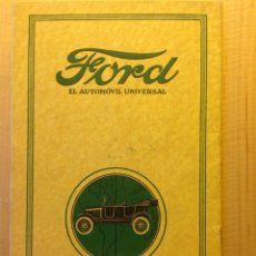 Coches: FORD CATALOGO EN CASTELLANO DE 1916 - 1917. Lote 41998371