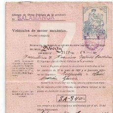 Coches: DOCUMENTACIÓN VEHÍCULO MOTOR MECÁNICO, LIBERTY, 1928-1934. ALTA, IMPUESTOS, BAJA.. Lote 83561620