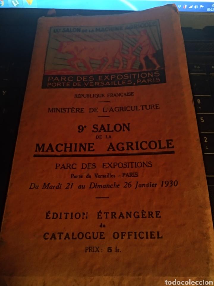 CATÁLOGO DE LA 9 SALON DE MAQUINARIA AGRÍCOLA 1930 (Coches y Motocicletas - Coches Antiguos (hasta 1.939))