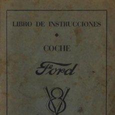 Coches: FORD V 8. LIBRO DE INSTRUCCIONES. - VARIOS AUTORES . Lote 126665267