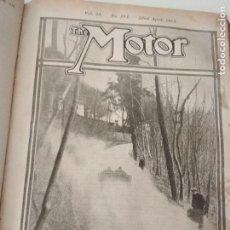 Coches: REVISTAS THE MOTOR ENCUADERNADAS -1913. Lote 133559694