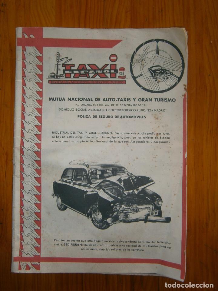 ¡¡REVISTA DEL AUTOMOVIL DE SERVICIO PUBLICO 'MUTUA,NACIONAL, DE AUTO-TAXIS Y GRAN TURISMO¡¡ (Coches y Motocicletas - Coches Antiguos (hasta 1.939))