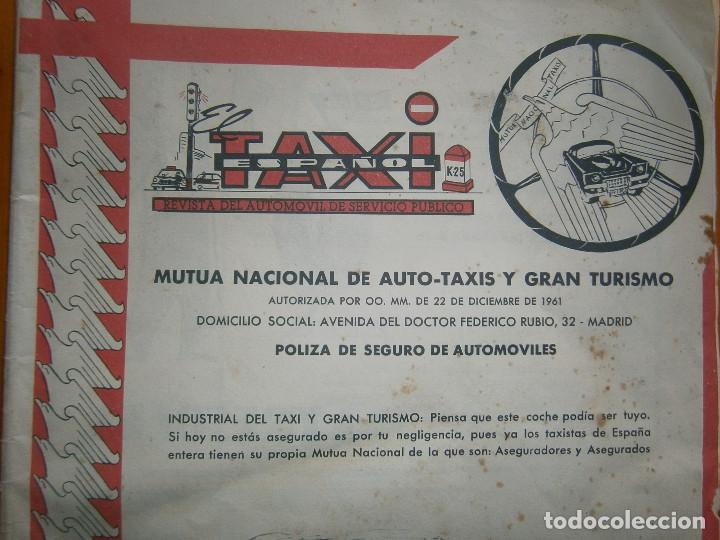 Coches: ¡¡REVISTA DEL AUTOMOVIL DE SERVICIO PUBLICO 'MUTUA,NACIONAL, DE AUTO-TAXIS Y GRAN TURISMO¡¡ - Foto 2 - 136103362