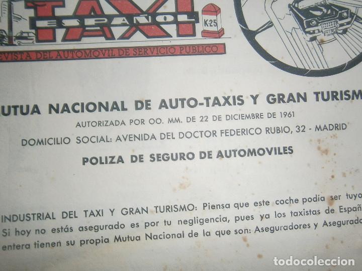 Coches: ¡¡REVISTA DEL AUTOMOVIL DE SERVICIO PUBLICO 'MUTUA,NACIONAL, DE AUTO-TAXIS Y GRAN TURISMO¡¡ - Foto 9 - 136103362