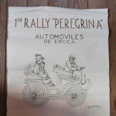 Coches: CARTEL 1º RALLY PEREGRINA, PONTEVEDRA 1982. ILUSTRACIÓN: AGUSTÍN PORTELA PAZ. Lote 147327822