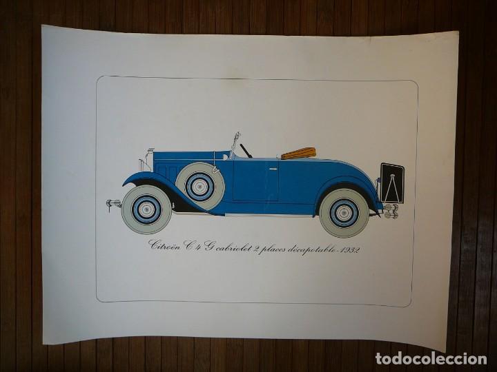 LÁMINA CITROEN C4 G CABRIOLET 2 PLAZAS DESCAPOTABLE - 1932 (Coches y Motocicletas - Coches Antiguos (hasta 1.939))
