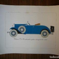 Coches: LÁMINA CITROEN C4 G CABRIOLET 2 PLAZAS DESCAPOTABLE - 1932. Lote 147495718